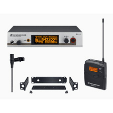 Sennheiser EW 312 G3 ME2 Lavalier Wireless Mic Systems with Rackmount Receiver