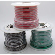 18 AWG 300V Stranded Hook-Up Wire 100 Foot Spool Blue