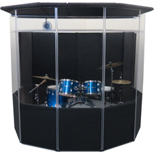 ClearSonic IsoPac A Drum Acoustic Isolation Booth w/ Closed Roof Dark Gray