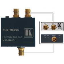 Kramer PicoTOOLS - VM-2HD - 1:2 SDI and HD-SDI (HDTV) Video DA