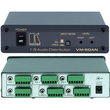 Kramer VM-50AN 1:5 Balanced & Unbalanced Stereo Audio Distribution Amplifier