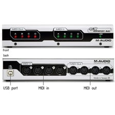 M-Audio USB MidiSport 4x4 4-In/4-Out Bus-Powered MIDI Interface