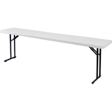 Plastic Blow Molded Grey Rectangle Folding Tables