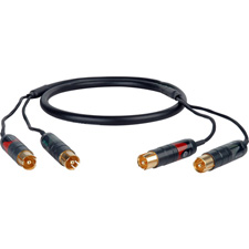 Professional 2RCA-2RCA Male Patching  Audio Cable 10ft