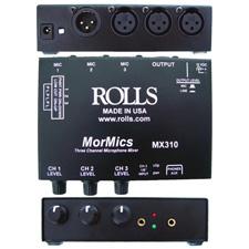 Rolls MX310 MorMics 3Ch Mic Mixer/Combiner
