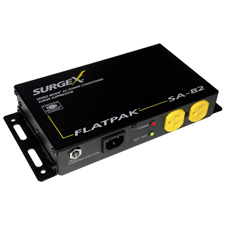 SurgeX SA-82 FlatPak Surge Suppressor & Power Conditioner - 8 Amps at 120 Volts - Black