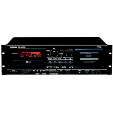 Tascam CD-A750 CD Player and Cassette Recorder with Balanced XLR Ins and Outs