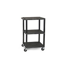 H. Wilson W42ACE Utility AV Cart with Locking Cabinet