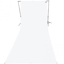 Westcott 9x20ft Wrinkle Resistant Cotton Background - High-Key White Backdrop
