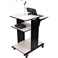 H. Wilson WPS6HDE 42 In. High Multimedia Workstation w/4-Work Surfaces