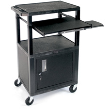 H. Wilson WTPS42C2E Utility AV Cart with Vented Side Panels