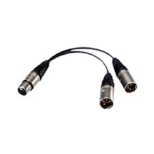 Bescor 4 Pin XLR Power Y-Adaptor 1Female to 2Males 5 Inch