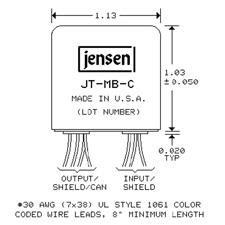 Jensen JT-MB-C Microphone Bridging Transformer