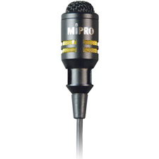 MIPRO MU-53LX  10MM Cardioid Cond. Lav. Mic w/Clothing Clip/TA4F Conn. in Black