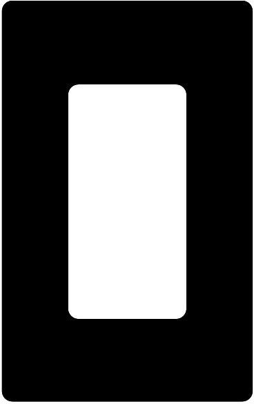 Attero Tech 1-GANG SNAP-IN DECORA-B 1-Gang Screwless Snap-In Decora Wall Plate - Black 1GNGSNPINDCRABK