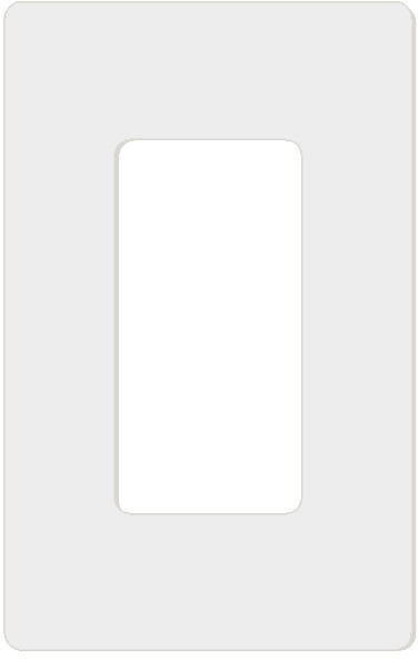 Attero Tech 1-GANG SNAP-IN DECORA-W 1-Gang Screwless Snap-In Decora Wall Plate - White 1GNGSNPINDCRAWT