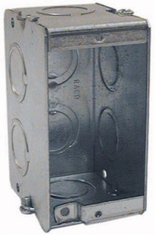 Attero Tech 1-GANG STEEL BACK BOX - Steel New/Old Work Back Box 1GNGSTEELBCKBX