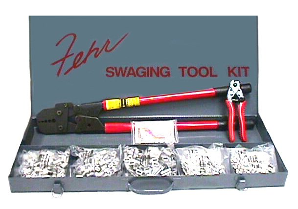 Swaging Tool Amp 1 16 Through 3 16 Aluminum Sleeve Stop Kit