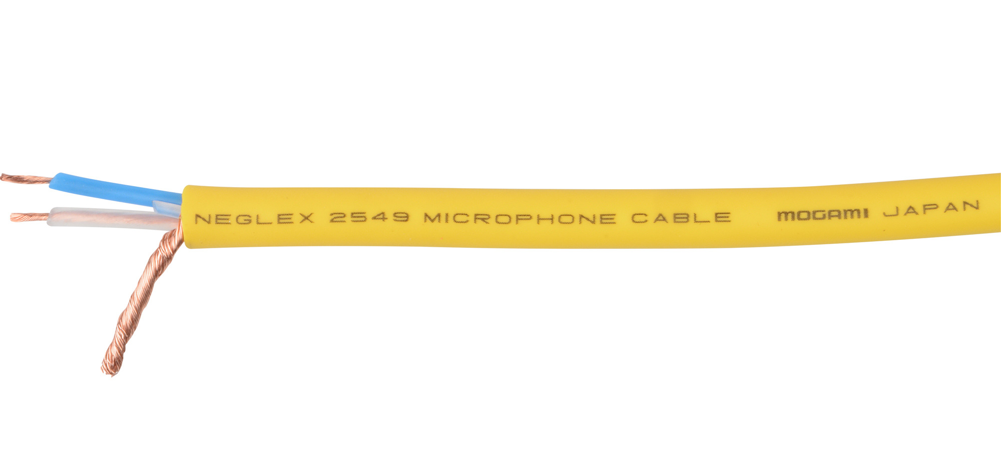 mogami 2549 2 conductor microphone cable 22awg per foot yellow. Black Bedroom Furniture Sets. Home Design Ideas