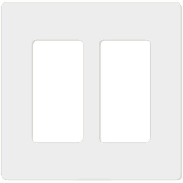 Attero Tech 2-GANG SNAP-IN DECORA-W 2-Gang Screwless Snap-In Decora Wall Plate - White 2GNGSNPINDCRAWT