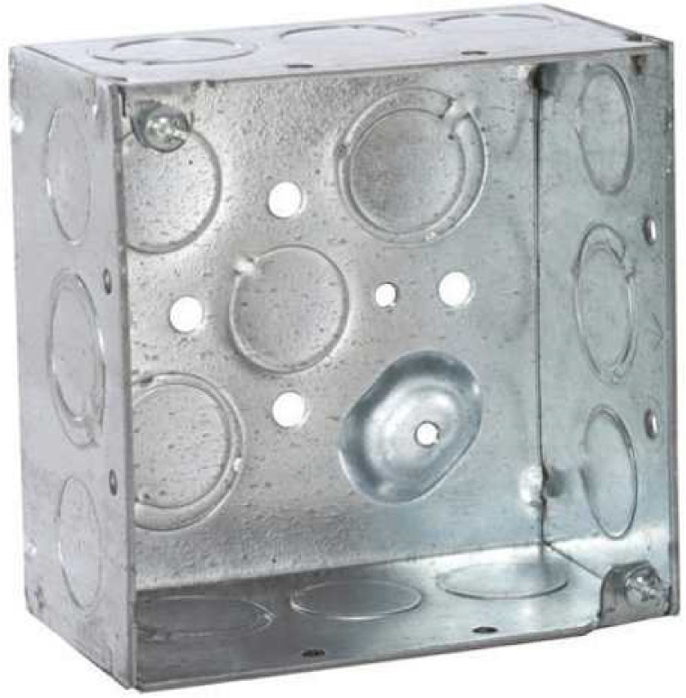 Attero Tech 2-GANG STEEL BACK BOX KIT 2-Gang Steel Newithold Work Back Box & 2-gang Mud Ring 2GNGSTLBCKBXKIT