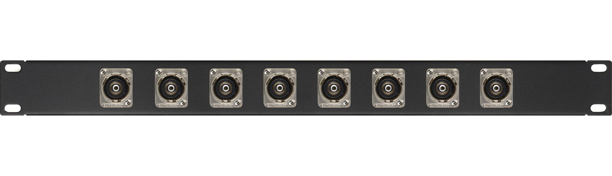 My Custom Shop 8XEHRCABNC 8-Port RCA to BNC Feed-Through Patch Panel w/ Switchcraft E Series - 1RU 8XEHRCABNC
