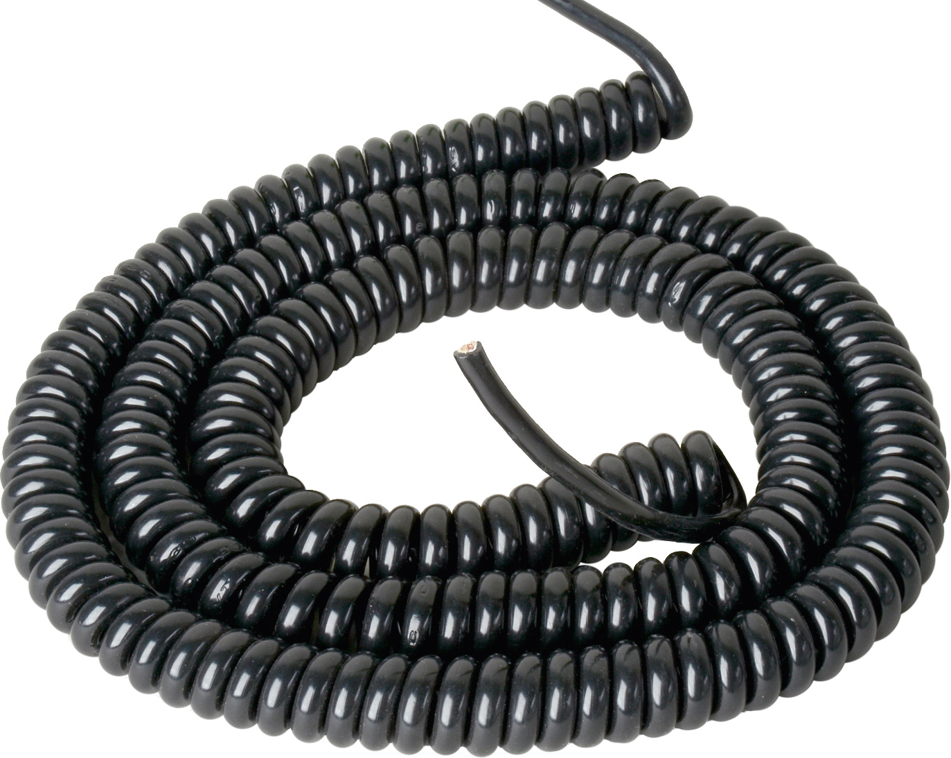 Pvc Coil Cable : Inch pvc coiled power cable awg extends to feet