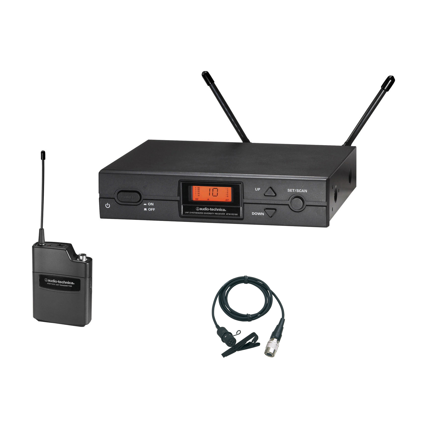 audio technica atw 2129ad 2000 series wireless lavalier band d mhz. Black Bedroom Furniture Sets. Home Design Ideas