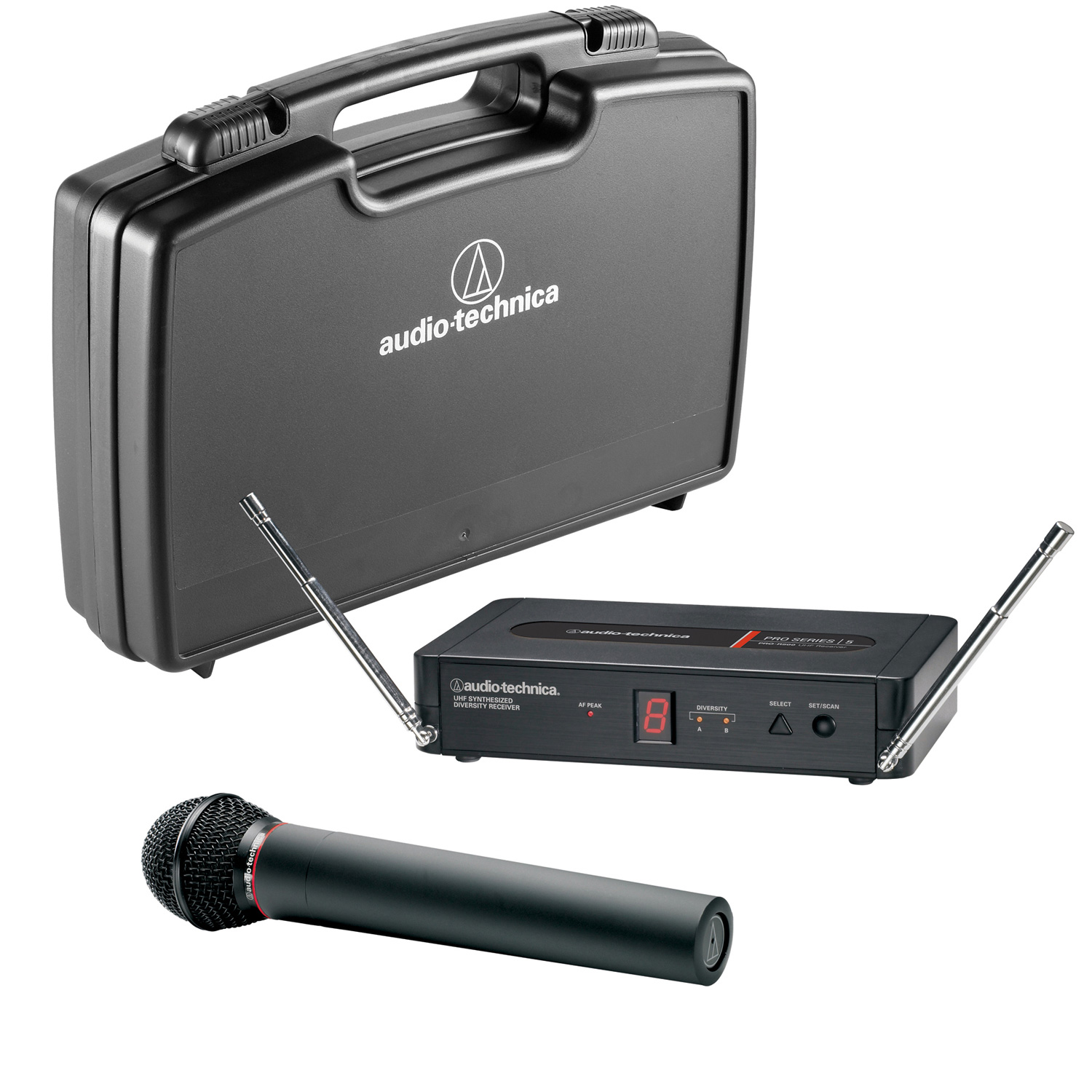 audio technica pro 5 series pro 502 dynamic wireless handheld microphone system. Black Bedroom Furniture Sets. Home Design Ideas