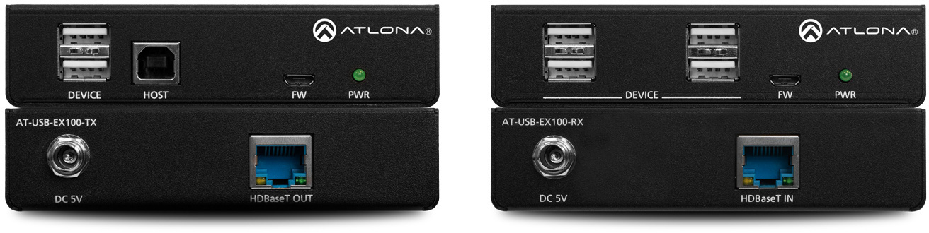 Atlona AT-USB-EX100-KIT USB 2.0 Extender Kit over Category Cable - up to 328-Foot (100m) AT-USB-EX100-KIT
