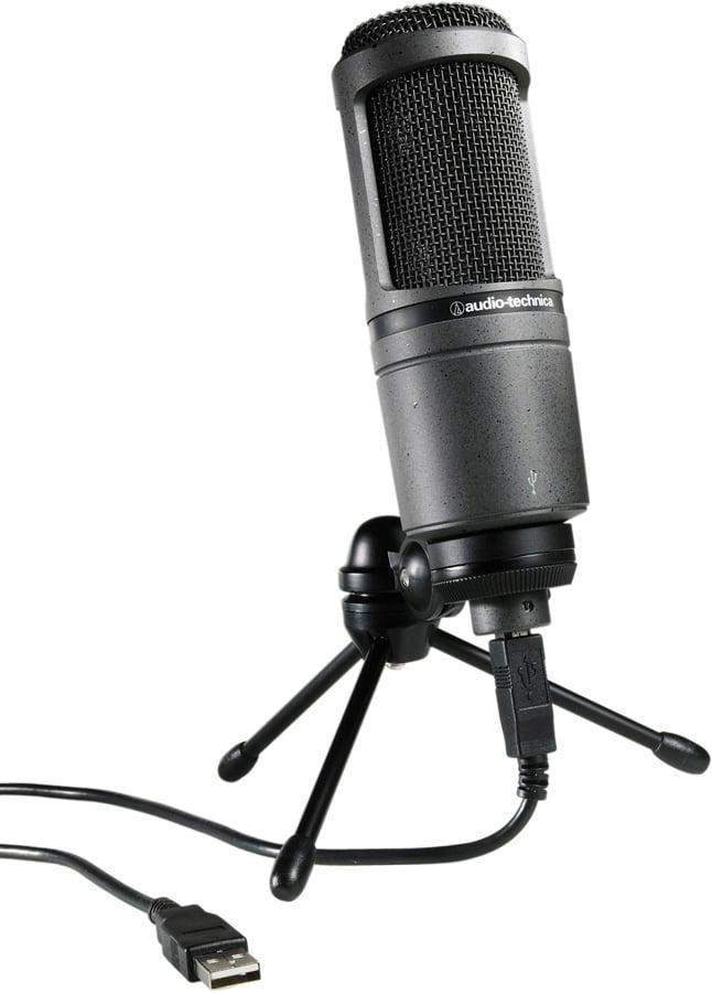audio technica at2020 usb cardioid condenser usb microphone. Black Bedroom Furniture Sets. Home Design Ideas