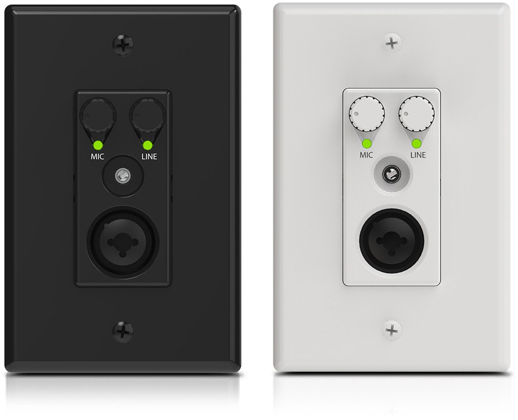 Attero Tech AXIOM ML1 2x0 Channel 1 Gang US Wall Plate with XLR Mic/Line In and 3.5mm Line Input and Analog Output ATEC-AXIOMML1