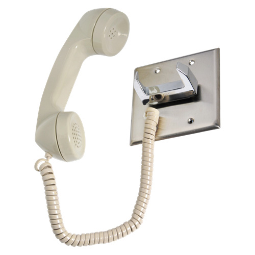 atlas ce 2a pt telephone intercom handset chrome hook. Black Bedroom Furniture Sets. Home Design Ideas