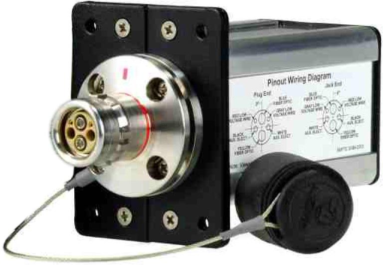 AVP MB8FM-LP-LC Module - LEMO Plug SMPTE 304M Camera Connector - Round Flange AVP-MB8FM-LP-LC