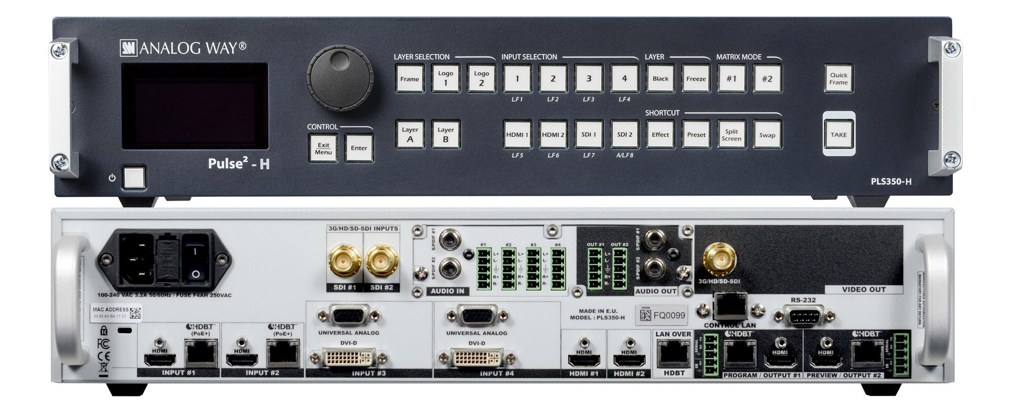 Analog Way Pls350 H 8 Input Hi Res Mixer Amp Seamless