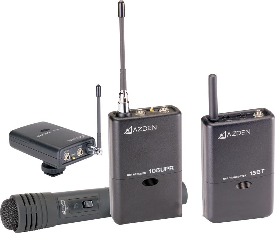 azden 105ulh 92 channel uhf lavalier handheld combo wireless system. Black Bedroom Furniture Sets. Home Design Ideas
