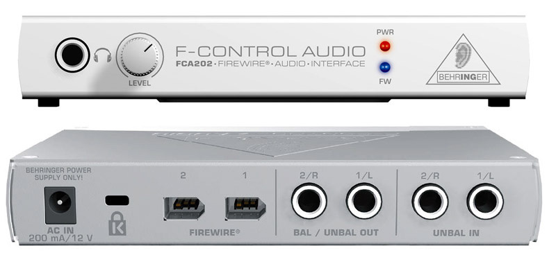 behringer fca202 firewire audio interface with daw software. Black Bedroom Furniture Sets. Home Design Ideas
