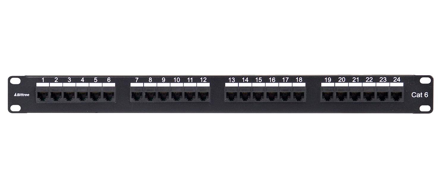 Bittree Dsgige124d 1x24 1ru Cat6 Rj45 To 110 Punchdown Patch Panel Cat 6 568c Wiring Diagram Zoom