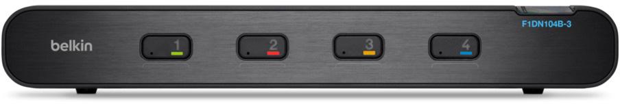 Belkin F1DN104B-3 4-Port Secure Single-Head DVI-I KVM Audio Switch - NIAP PP3.0 Certification - 3840 x 2160 BKN-F1DN104B-3
