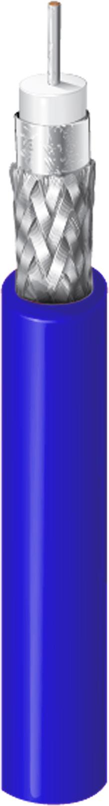 Belden 1505A RG59/20 3G-SDI Digital Coaxial Cable - Blue - 1000 Foot BL-1505A-1000 BE