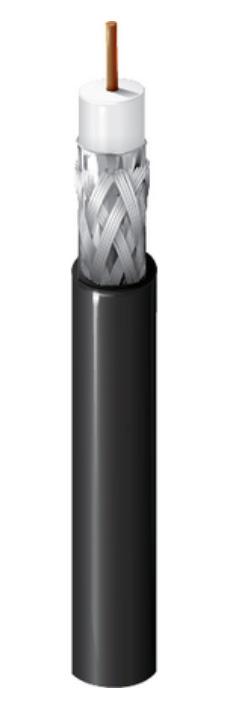 Belden 1506A RG59/20 SDI/Plenum Coaxial Cable - Black - 1000 Foot BL-1506A-1000