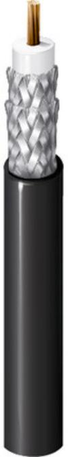 Belden 1694F CM Rated RG6/U Digital Coaxial Cable - Black - 1000 Foot BL-1694F-1000