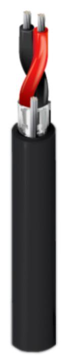 Belden 1800B 2-Conductor 24 AWG AES/EBU Digital Microphone Cable - Black - 500 Foot Roll BL-1800B-500