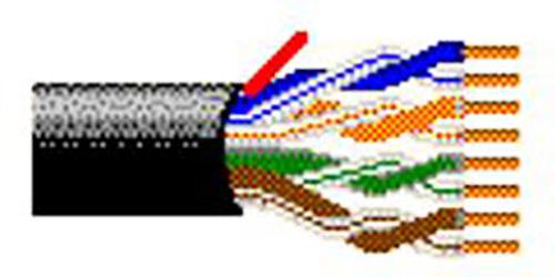 Belden 2413 Cat6plus 4-Pair U/UTP Unshielded Plenum-CMP Premise Horizontal Cable - 23 AWG - Black - 500 Foot/Unreeled BL-2413-500-BK