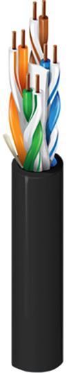 Belden 6663U6 Category 6 Security Cable - 4 Pair - U/UTP - CMP - 500 Foot - Black BL-6663U6-500-BK