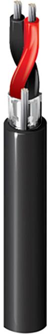 Belden 9451P Audio Cable - 1 Pair 22 AWG - TC - Shielded - CMP - Black - 500ft BL-9451P-500BK