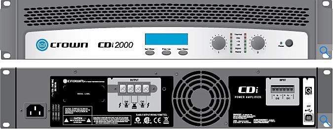 Crown Cdi 2000 2 Channel 800w 4 Ohms 70v 140v Power
