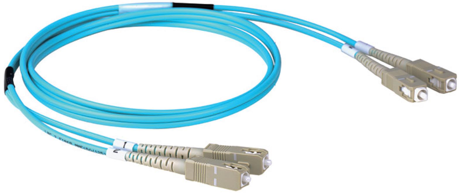 Cleerline 3DOM3SCSC03M SC/UPC-SC/UPC-3mm Riser-OM3-3m Fiber Cable