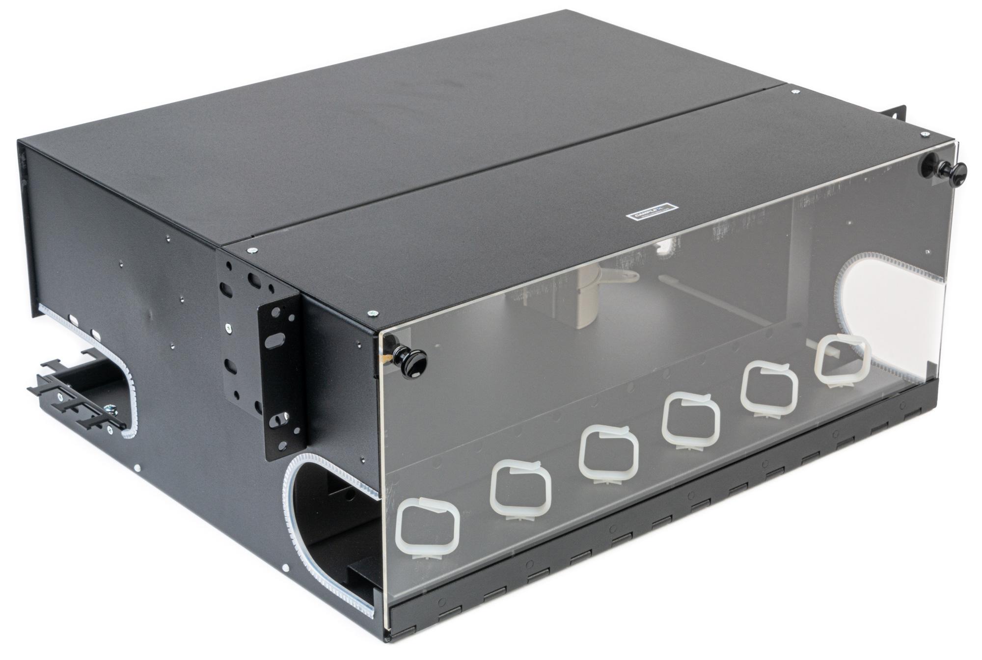 Camplex CMX-MPR-4RU Adjustable Fiber Enclosure for 19/23-In Racks - 12 Modules up to 288 Fiber (Bstock - Used/Repaired) CMX-MPR-4RU-BS