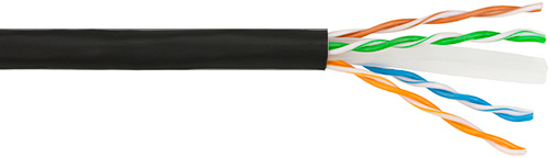 Clark Wire CN423C6S Riser Rated Shielded Cat6 550MHz STP Cable - Black - 1000 Feet CWC-CN423C6S-B